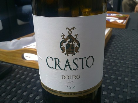 Crasto's delicious white Douro wine is a perfect aperitif.