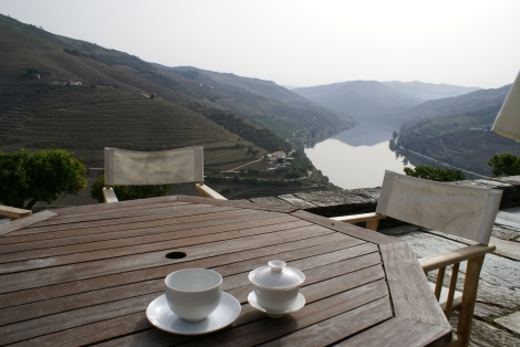 Black tea on Crasto's spectacular terrace overlooking the Douro.
