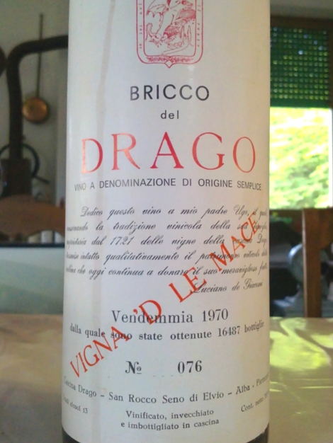 Extraordinary: Dolcetto ageing better than Nebbiolo.