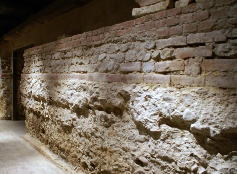 The 1881 Pio Cesare townhouse-cum-cellar is built upon an ancient Roman wall.