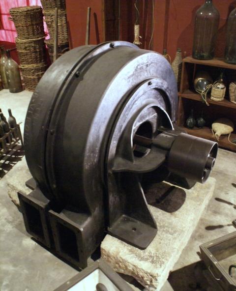 1930s power generator Bertani cellars Valpolicella