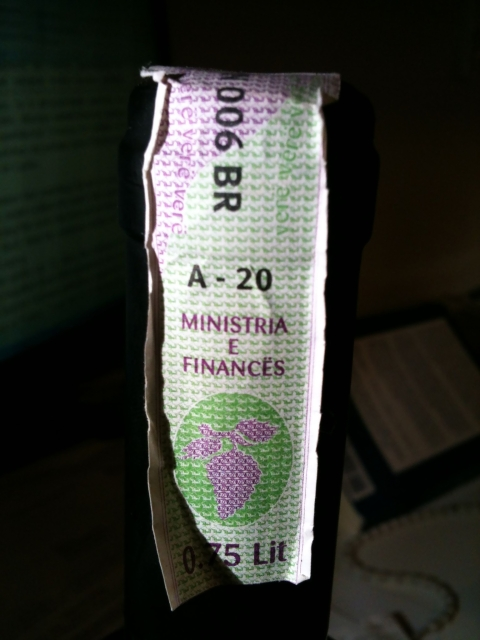 Albania wine excise sticker