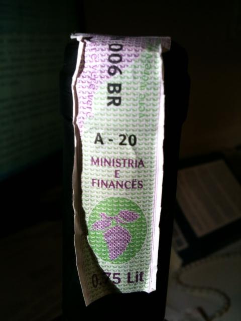 Albania wine excise sticker